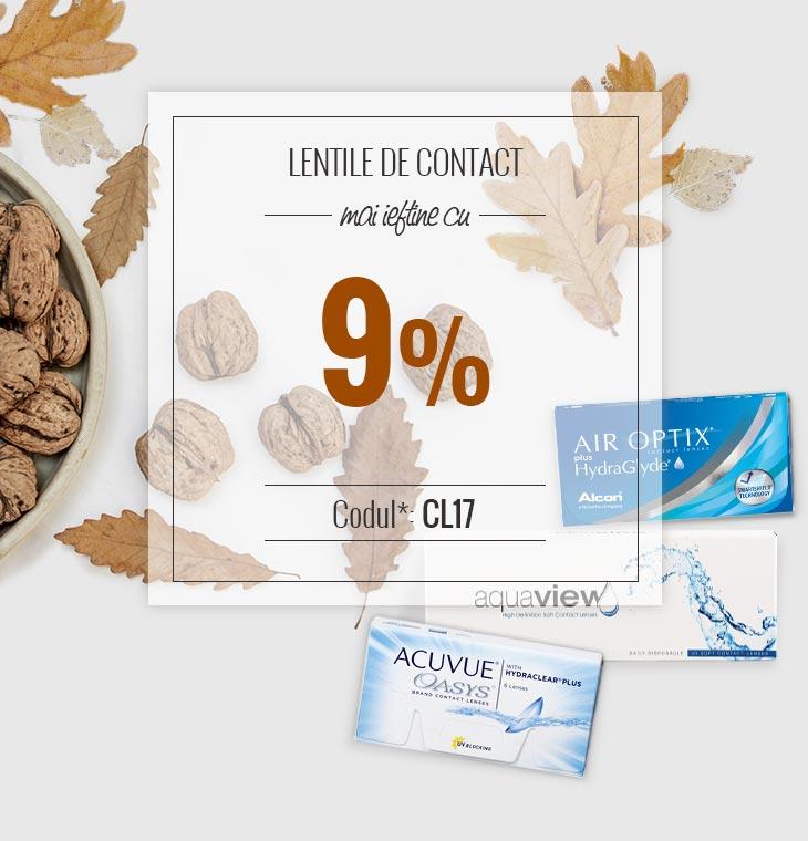 Lentile de contact mai ieftine cu 9%