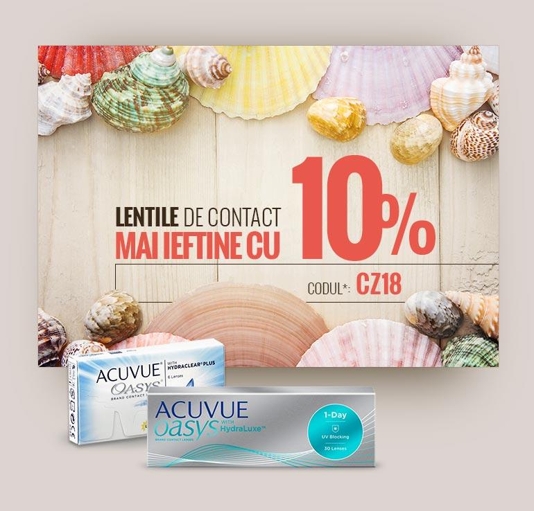 Lentile de contact mai ieftine cu 10%