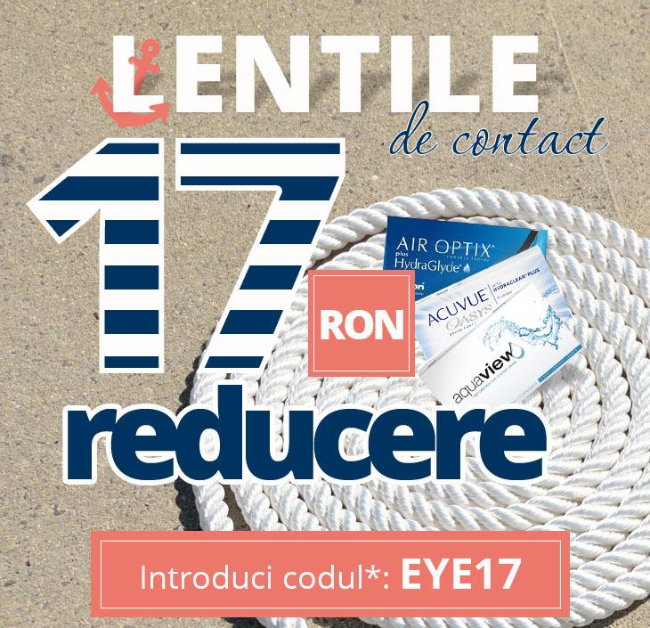 LENTILE DE CONTACT MAI IEFTINE CU 15ron