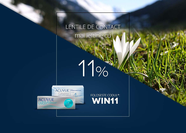 Lentile de contact mai ieftine cu 11%!