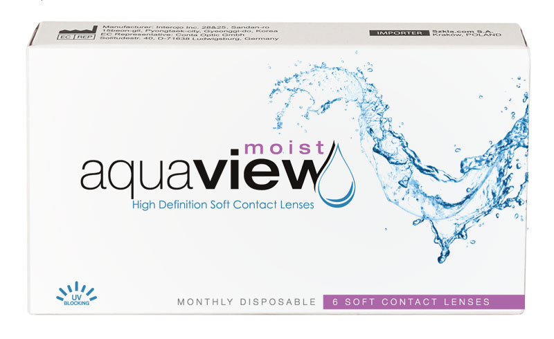 AquaView Moist 6 buc. + Lentile de contact GRATIS (la 2 cutii)