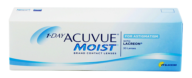 1-DAY ACUVUE® MOIST for ASTIGMATISM 30 buc.