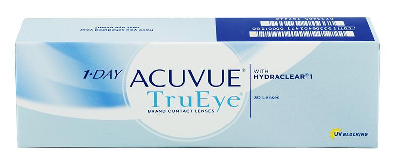 Acuvue® 1-Day TruEye 30 buc. + recipient pentru lentile de zi cu zi gratis! (la 2 cutii)