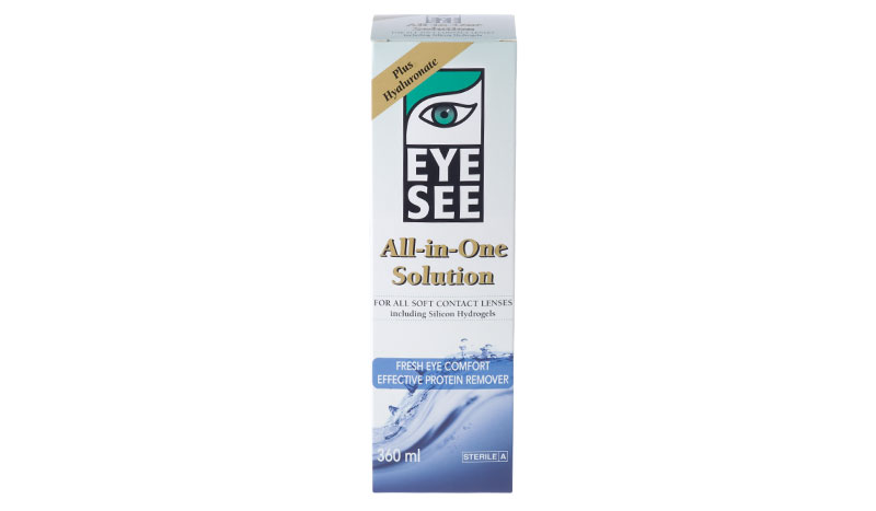 Eye See All in One solution with Hyaluronate 360 ml
