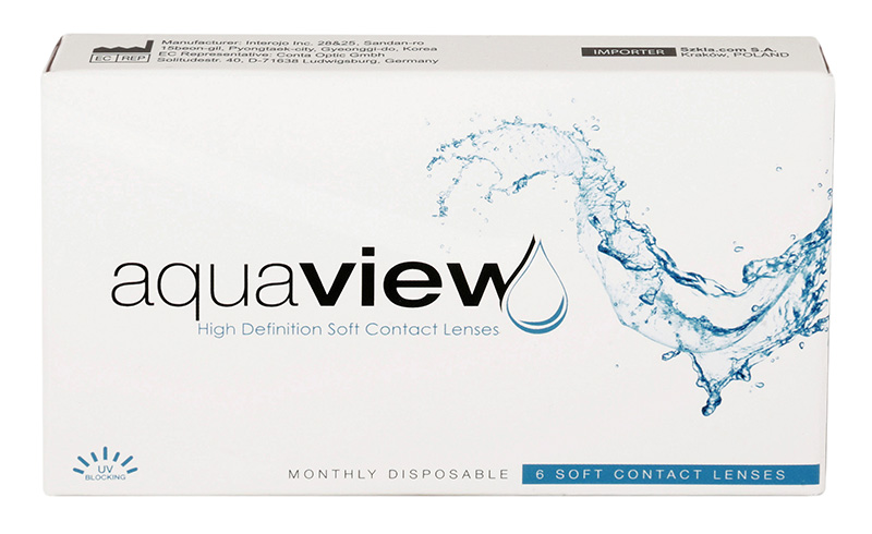 AquaView Monthly 6 buc. + Lentile de contact GRATIS (la 2 cutii)