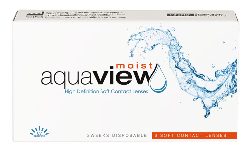 AquaView Moist 2 weeks 6 buc. + Lentile de contact GRATIS (la 2 cutii)