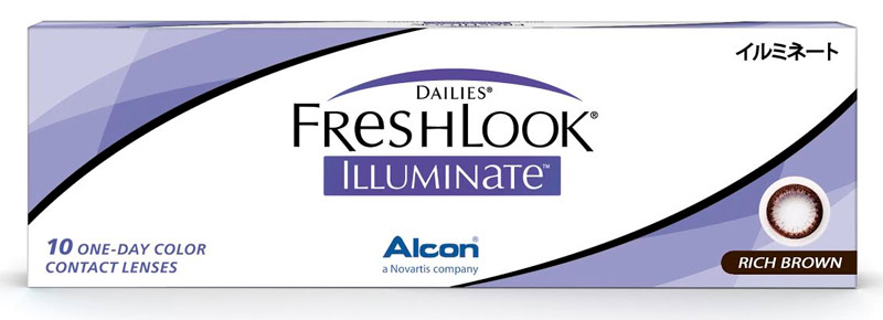 Dailies Freshlook Illuminate™ Rich Brown 10 buc.